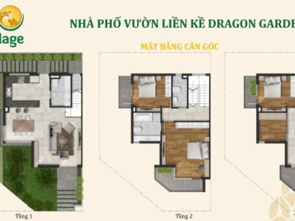 Căn góc nhà phố vườn liền kề dragon village quận 9