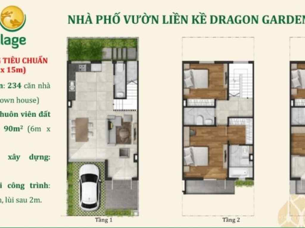 Nhà phố vườn liền kề dragon village quận 9