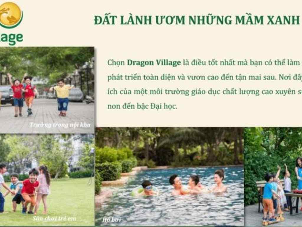 Tiện ích nội khu dự án dragon village quận 9