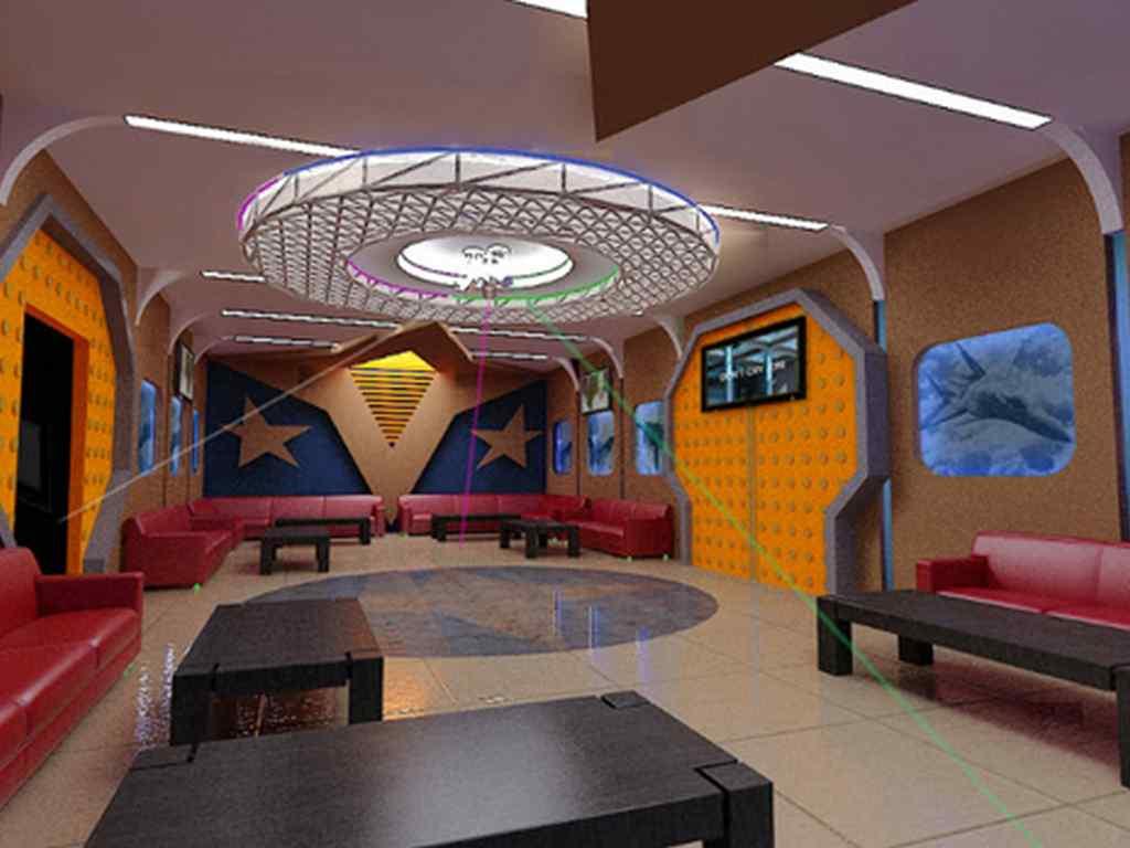Trần vách thạch cao đẹp phòng hát karaoke