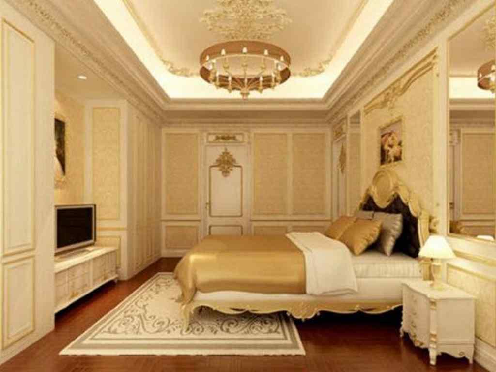 Trần vách thạch cao phòng ngủ đẹp
