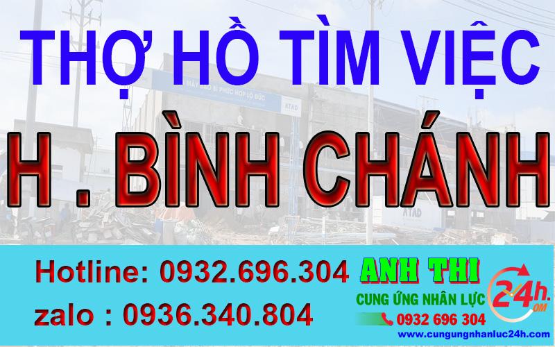 Thợ hồ xin việc tại huyện Bình Chánh