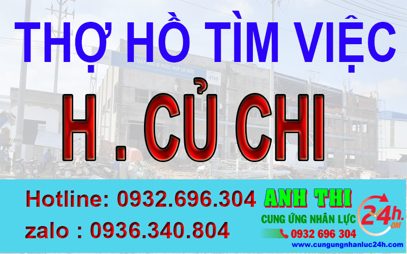Thợ hồ xin việc tại huyện Củ Chi