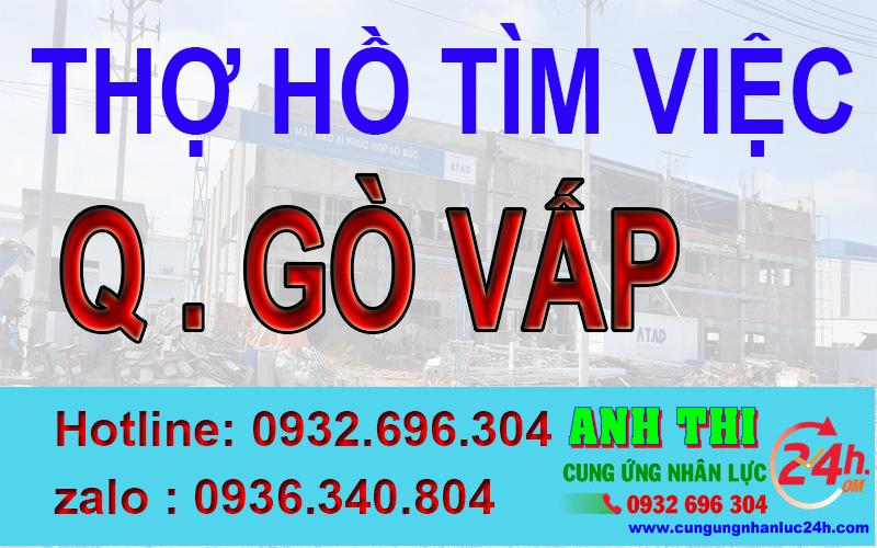 Thợ hồ đăng ký xin việc tại quận Gò Vấp