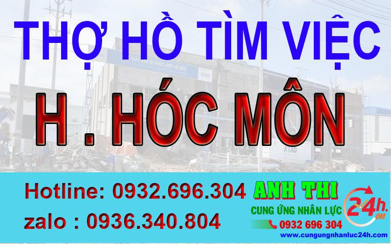 Thợ hồ xin việc tại Huyện Hóc Môn